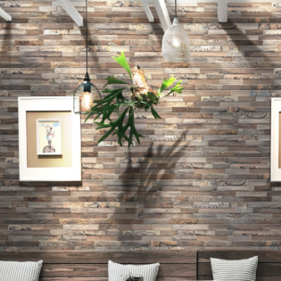 Brown Wood Effect Porcelain Wall Cladding
